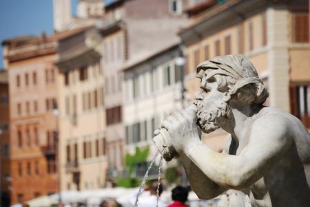 Fontana del Moro in Piazza Navona  Rome, Italy