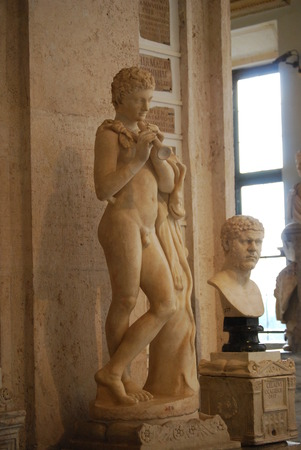 Inside one of the rooms of the Capitoline Museums in Rome photo