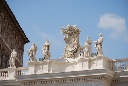 st  peter s square: St  Peter s Basilica, St  Peter s Square, Vatican City Stock Photo