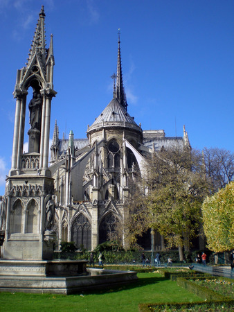 De kathedraal van Notre Dame van Parijs, Frankrijk Stockfoto