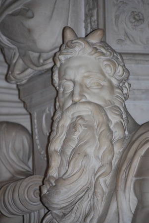 st peter s basilica: Statue of Moses, Michelangelo, San Pietro in Vincoli, Rome, Italy
