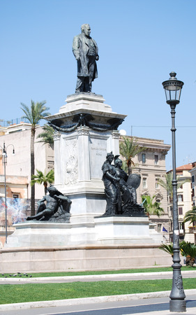 cavour: Monument to Camillo Benso di Cavour in Piazza Cavour, Rome, Italy Stock Photo