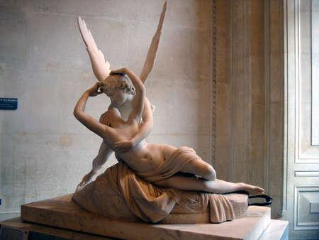 psique: Escultura de m�rmol de Cupido y Psique de Antonio Canova