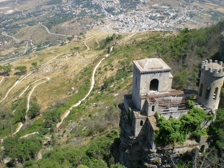 erice: Abandoned castle in Erice