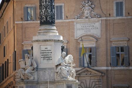 isaiah: Rome - Biblical Statues at Base of Column  's Imacolata