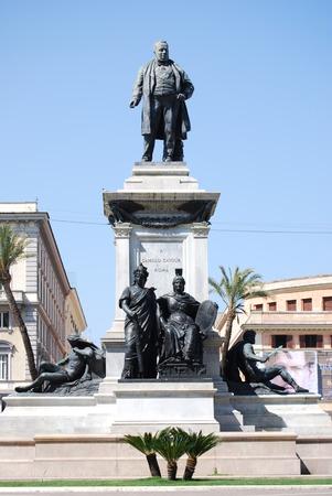 camillo: Monument to Camillo Benso di Cavour, Piazza Cavour, Rome, Italy