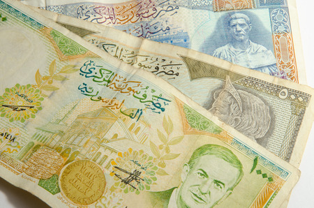 coppers: Syrian pound background