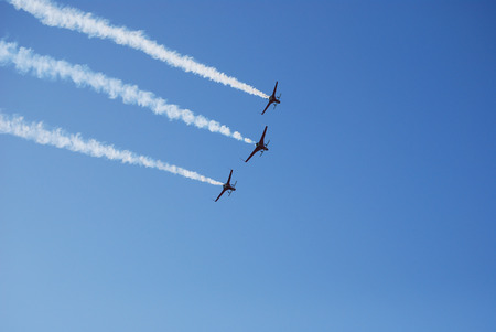 white clouds: Air show