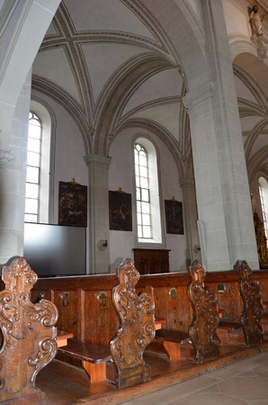 twinning: Church of St. Leodegar Hofkirche in Lucerne Switzerland