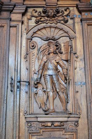 illustrious: Church of St. Leodegar Hofkirche in Lucerne Switzerland