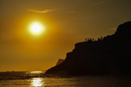 scala: white cliff of Scala dei Turchi Turkish Staircase near Agrigento Sicily Stock Photo