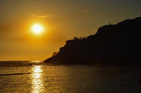 dei: white cliff of Scala dei Turchi Turkish Staircase near Agrigento Sicily Stock Photo