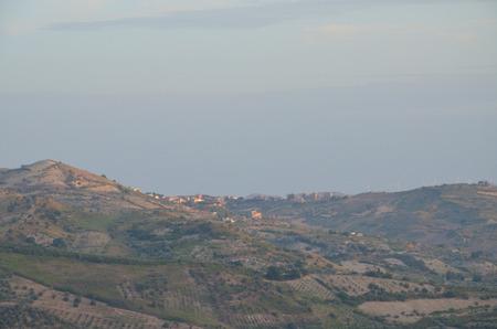 black moor: View of the city of Bivona, Sicily Stock Photo