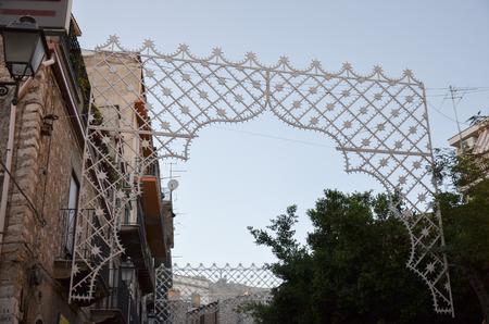 Vista de la ciudad de Bivona, Sicilia