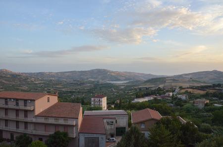 Vista de la ciudad de Bivona, Sicilia Foto de archivo