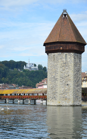 illustrious: Chapel Bridge in Lucerne, Switzerland