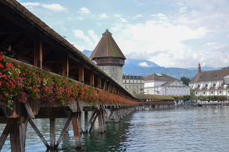 allurement: Chapel Bridge in Lucerne, Switzerland