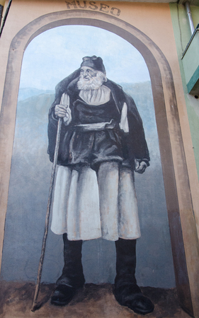 autochthonous: Wall painting murals in Fonni, Sardinia, Italy