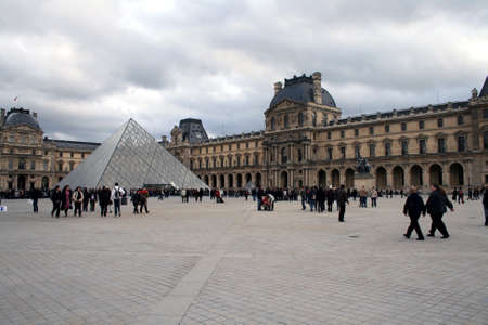 louvre pyramid: Louvre pyramid in Paris