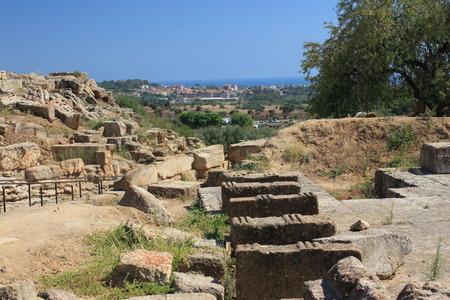 valley of the temples: The Valley of the Temples, Agrigento, Sicily, Italy Stock Photo