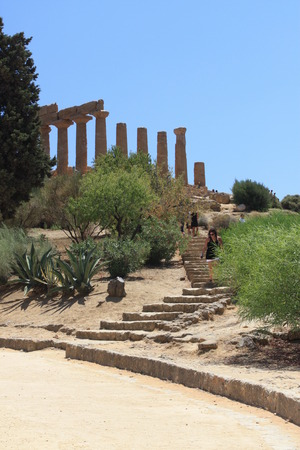 agrigento: The Valley of the Temples, Agrigento, Sicily, Italy Stock Photo