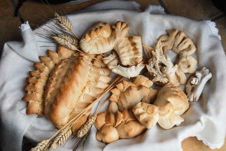 Coccoi, typical bread from Sardinia
