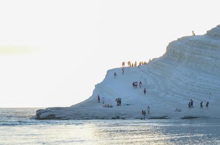 agrigento: white cliff of Scala dei Turchi (Turkish Staircase) near Agrigento, Sicily