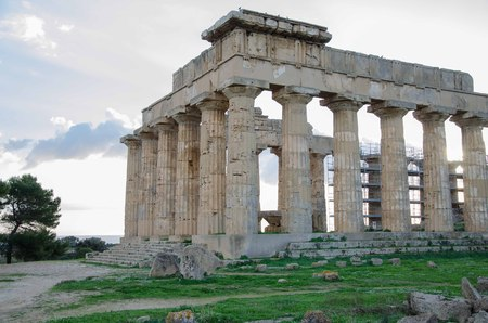 archaeological: Archaeological area of Selinunte in Sicily Stock Photo