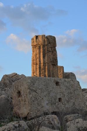 Greek temple in Selinunte Stock Photo