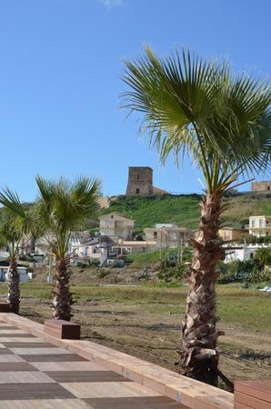 Landscape in Sicily, Menfi (Ag) Stock Photo