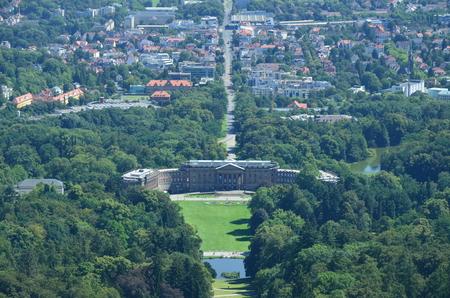 Wilhelmshoehe Castle Park in Kassel, Germany 스톡 콘텐츠
