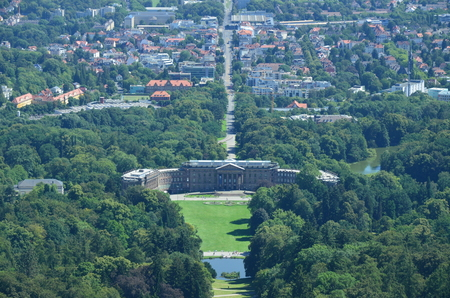 Wilhelmshoehe Castle Park in Kassel, Germany 免版税图像