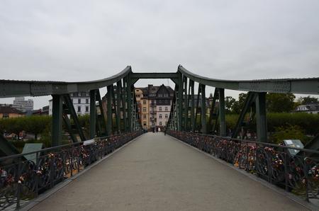 Love locks in a bridge - Frankfurt am Main