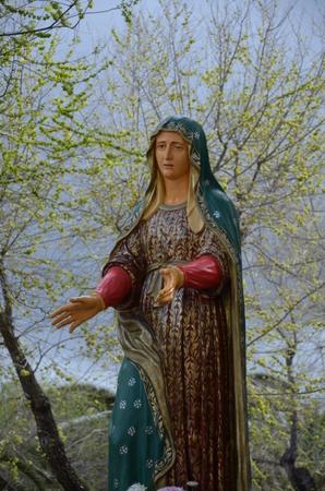 A Virgin Mary Statue Archivio Fotografico