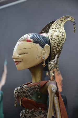 The Traditional Javanese puppets in Indonesia