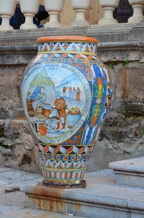 ceramics in Sciacca city, Sicily