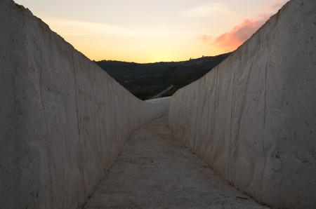 Gibellina, Italy - Cretto by Burri, concrete work of art in western Sicily