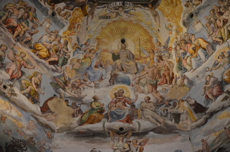 The Inside the Duomo in Florence (Cathedral of Santa Maria del Fiore)