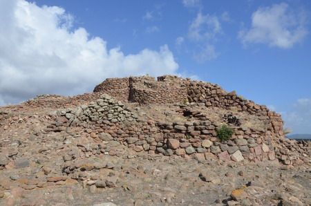 The ancient Nuraghe of Seruci, Sardinia