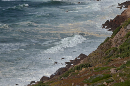 Coast of Mediterranean sea in Portoscuso, Carbonia-Iglesias, South Sardinia, Italy