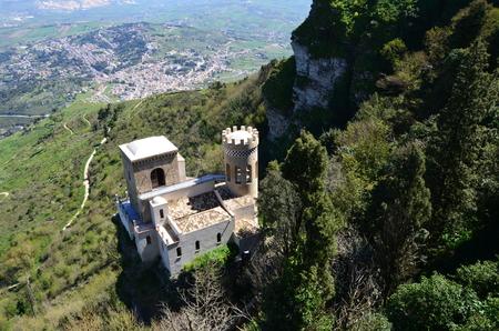 Medieval Castle in Erice, Italy Redactioneel