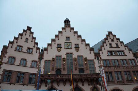 Historischer Romer-Platz in der Stadt Frankfurt Main, Deutschland