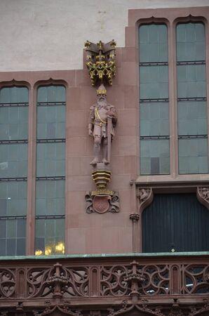 Historical Romer Square in the city of Frankfurt Main, Germany