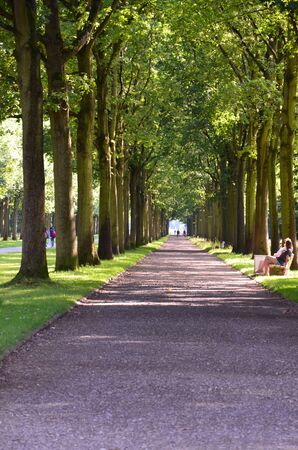 The central park of Kassel, Germany Stock Photo