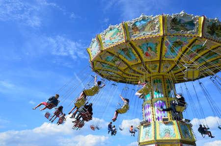 Kassel, Germany - Carousel in the park of Kassel Éditoriale