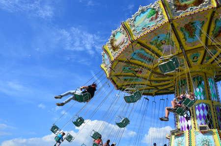 Kassel, Germany - Carousel in the park of Kassel