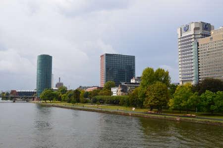 Financial district in Frankfurt am Main, Germany