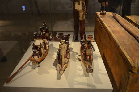 Exhibition of mummies, artifacts and Egyptian finds at the Egyptian Museum of Turin Banque d'images