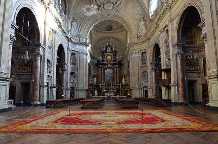 Turin, Italy - The baroque church San Filippo Neri