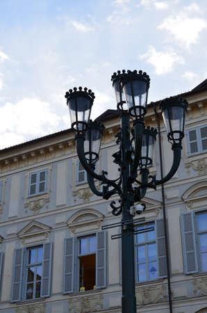 The architecture in the square of San Carlo, Turin
